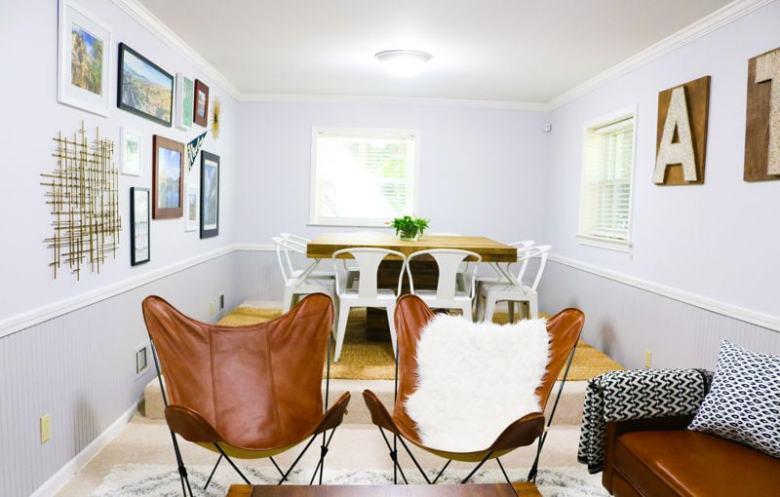 modern west elm living room