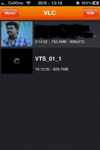 Screenshot of VLC player playlist