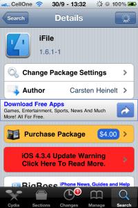 Screenshot of iFile
