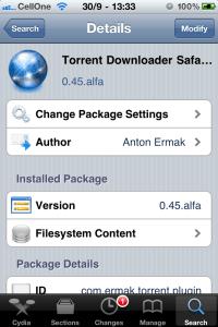 Screenshot Torrent Downloader Plugin