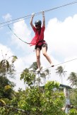 Richelle on high ropes