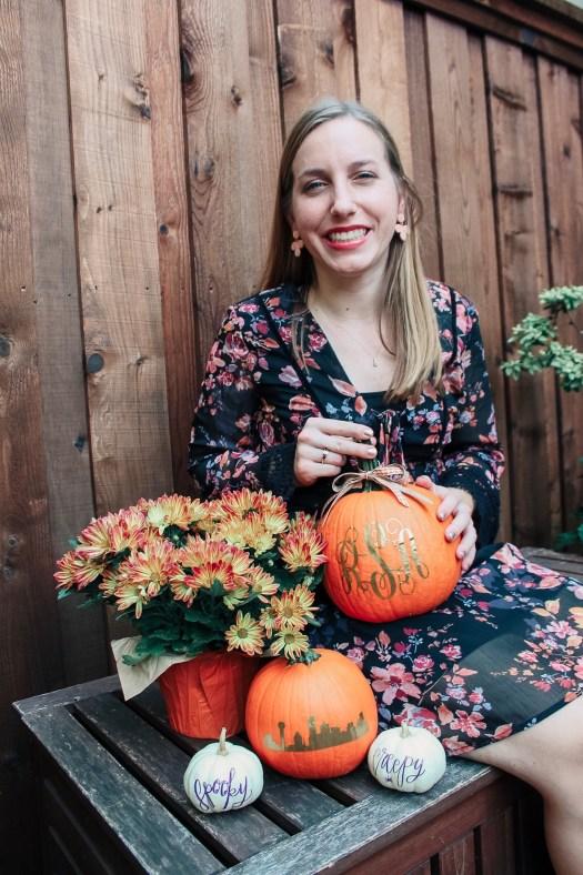 pumpkin, craft, monogram