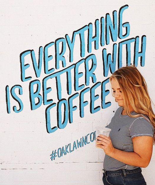 Oak lawn coffe mural