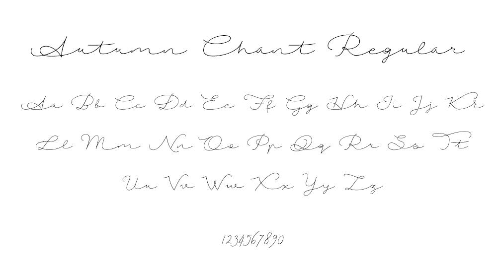 Autumn Chant Regular Font