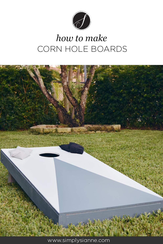 Corn Hole Board Pinterest Image