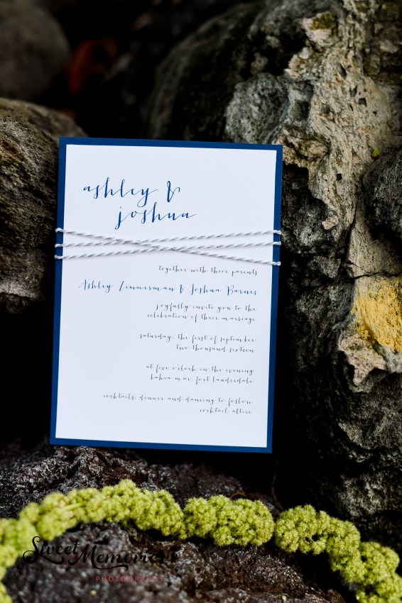 Simply Sianne Calligraphy and Design - Hand Made Wedding Invitations - Nautical Wedding
