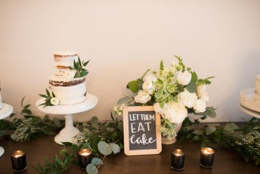 Simply Sianne Calligraphy and Design - Hand Lettered Design Services - Let them Eat Cake Sign