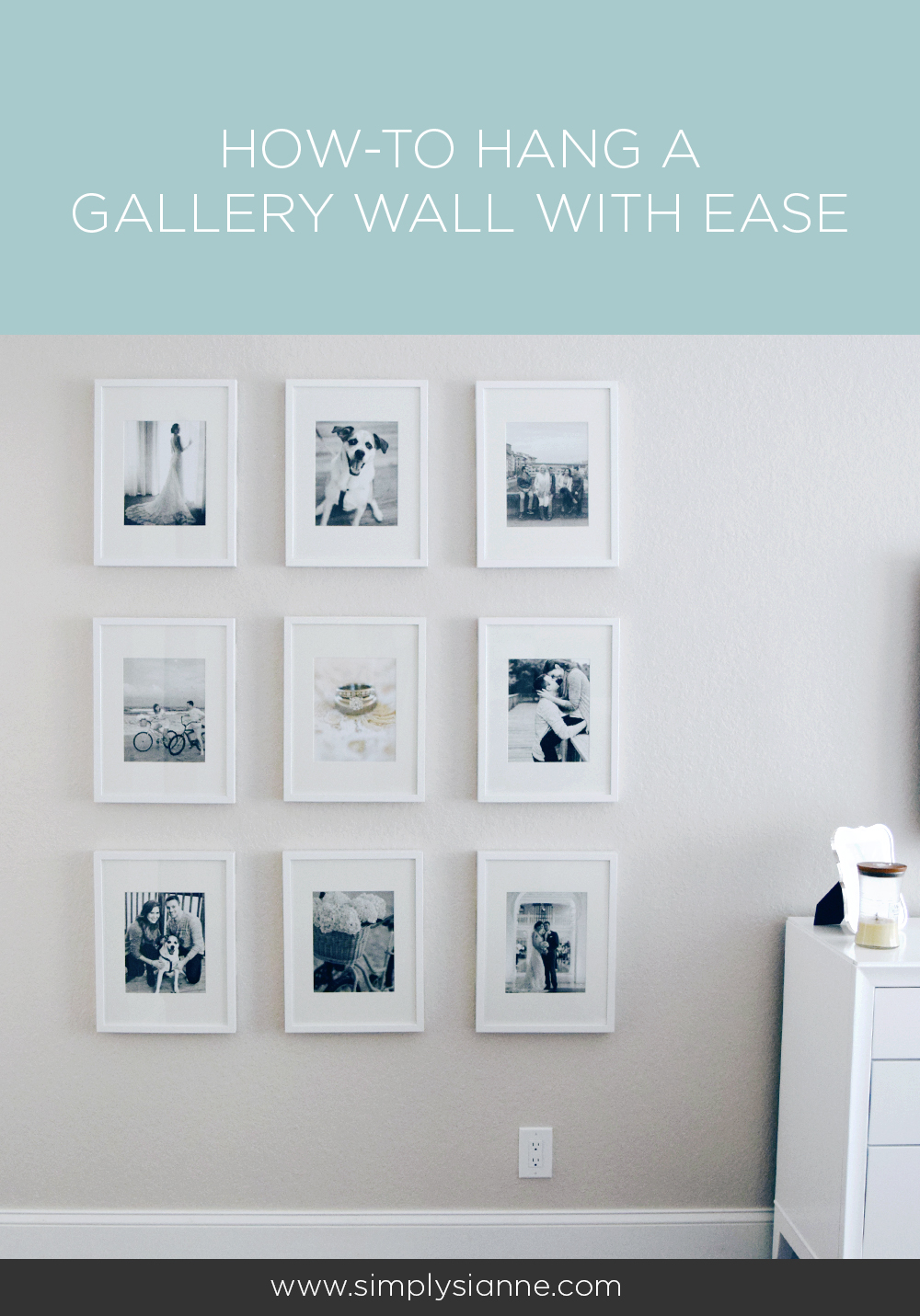 Hang a gallery wall with ease using Command Strips!
