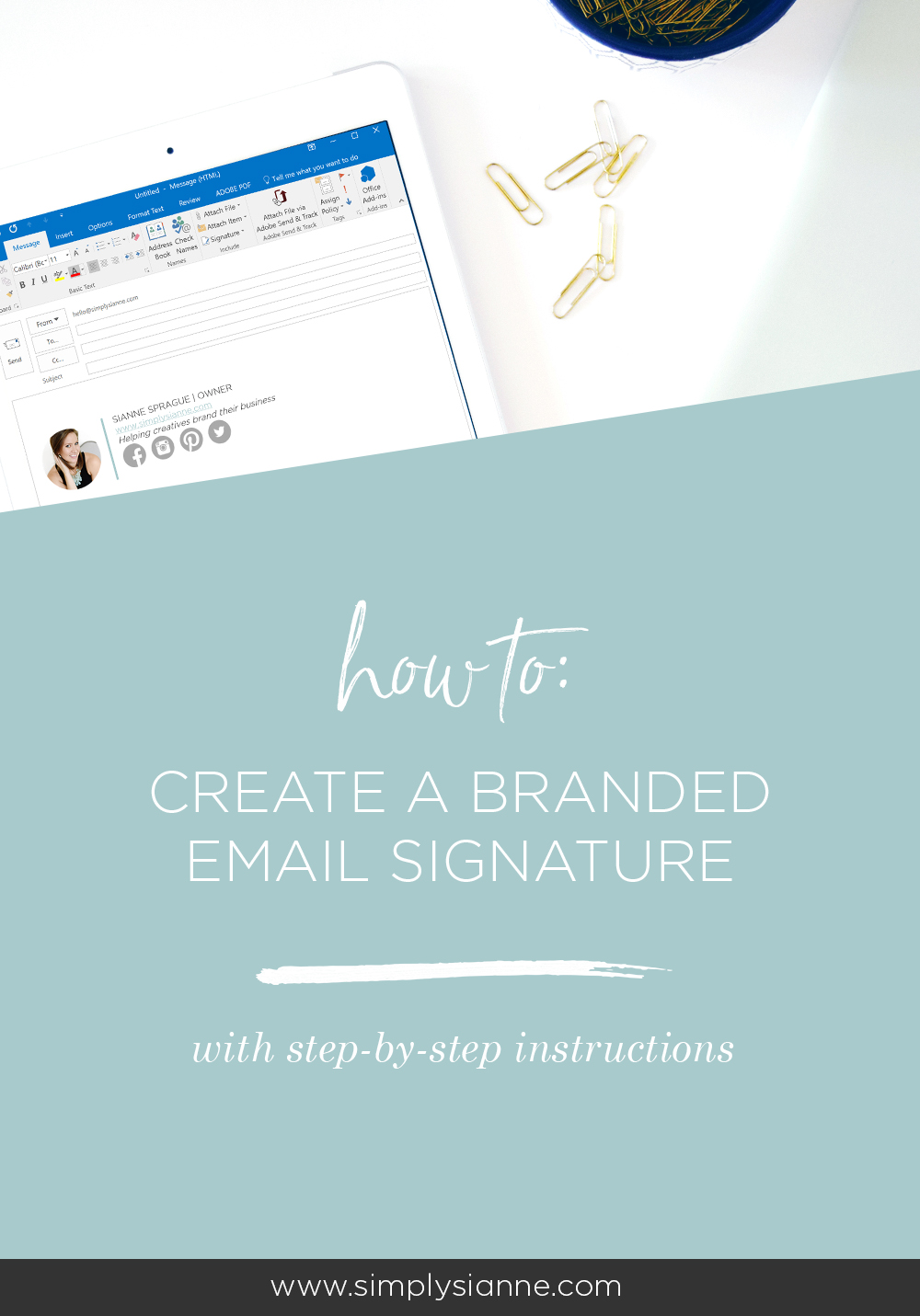 How to create a branded email signature in Outlook and Gmail