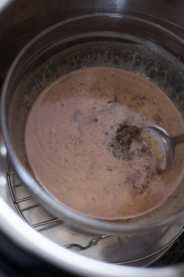 stirring chocolate