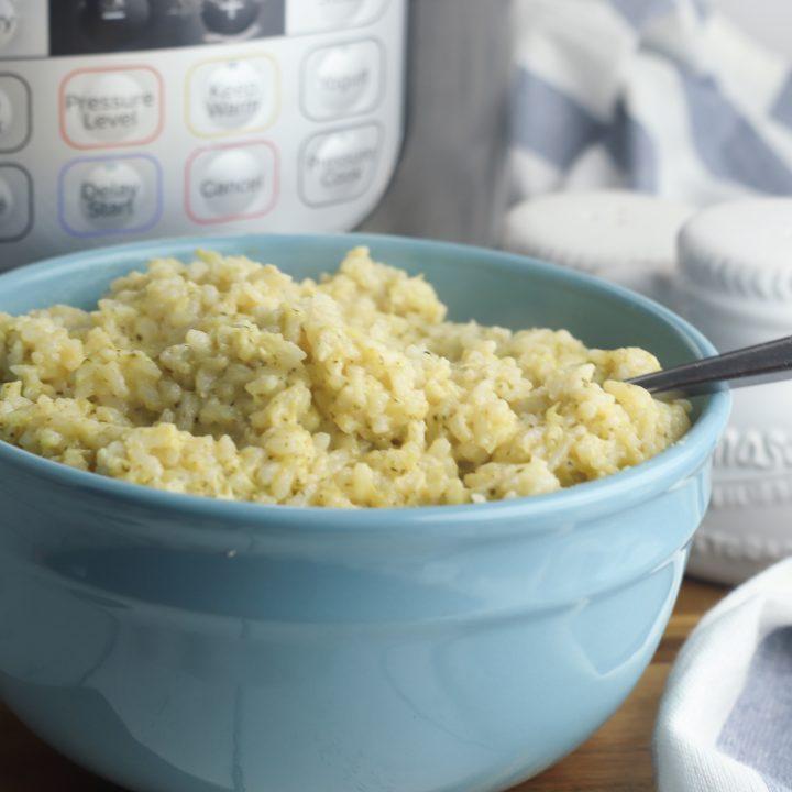 Instant Pot Cheesy Broccoli and Rice