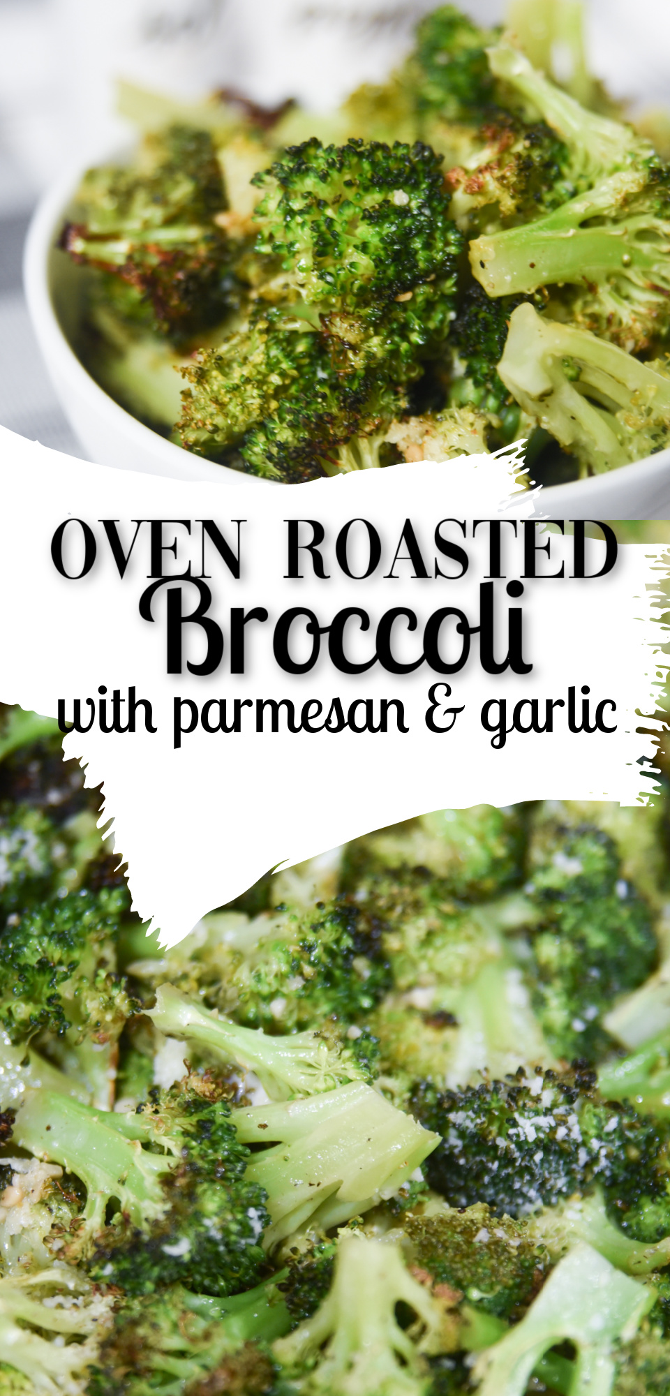Oven Roasted Broccoli is the perfect side dish for any meal. Enjoy this vegetable in a whole new way when you bake Broccoli in your oven. Roasted Broccoli with Parmesan and Garlic is a simple way to make this vegetable dish really stand out! via @simplysidedishes89