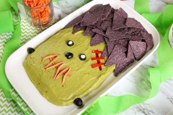 frankenstein guacamole platter