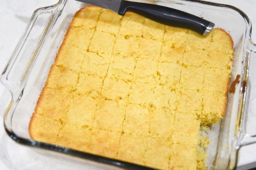 sliced cornbread