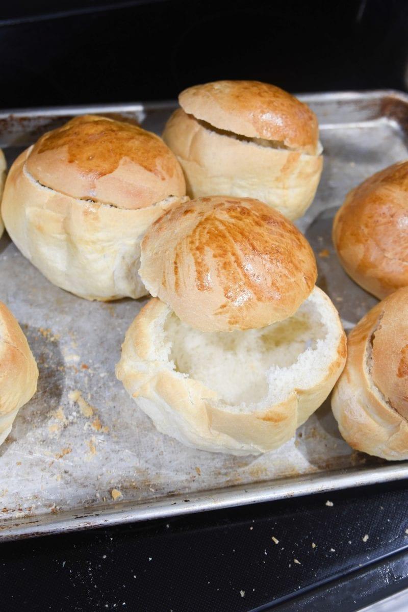 bread bowls from frozen rolls