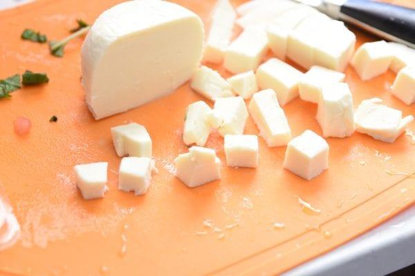 mozzarella cubed