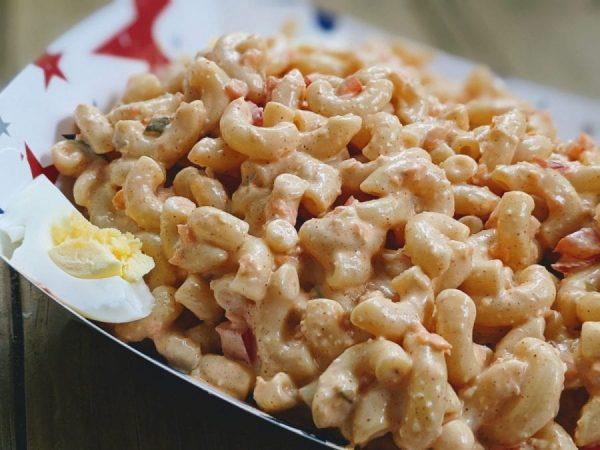 walmart amish macaroni salad in a bowl