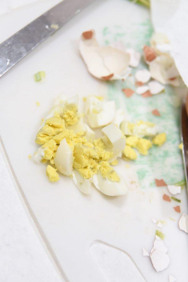 chopped hard boiled egg