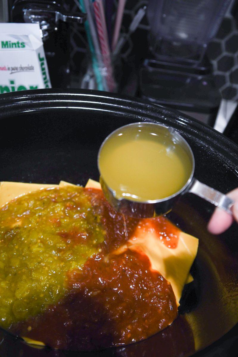 mixing sauces