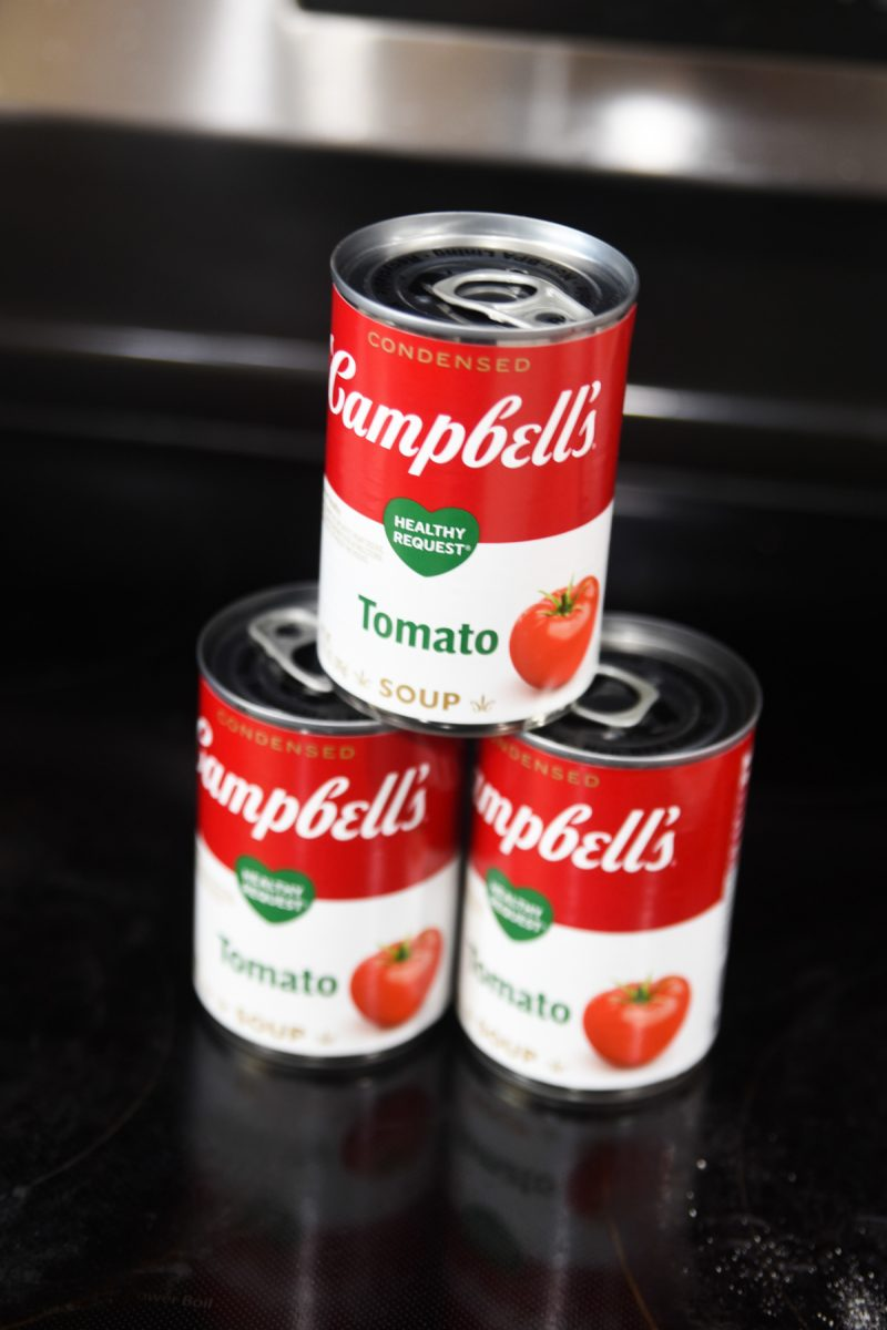 cans of tomato soup