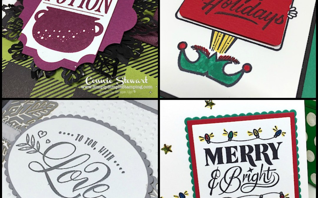 What's New Wednesday – Festive Phrases Stamp Set