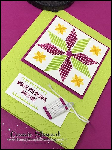 TEACH Me That! Learn how to create with the QUILT BUILDER FRAMELITS at www.SimplySimpleStamping.com - look for the September 21, 2017 blog post
