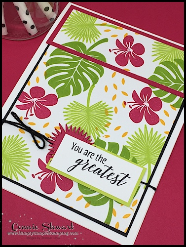 MAKE IT MONDAY FREE TUTORIAL - You Are the Greatest card - download the FREE tutorial at www.SimplySimpleStamping.com - look for the July 2, 2018 blog post!