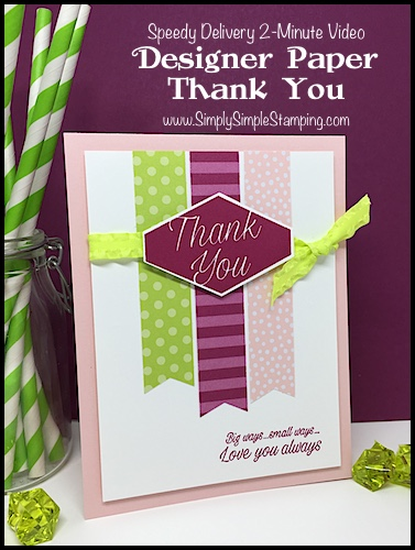 Fast Thank You Card with Accented Blooms: Speedy Delivery 2-Minute Video