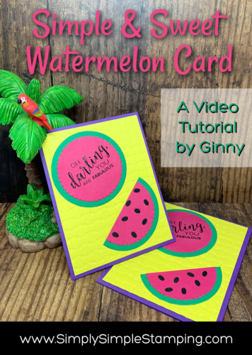How to Make the Sweetest Watermelon Greeting Card