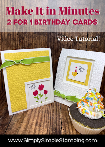 2 for 1 Handmade Birthday Card Ideas | Make it in Minutes