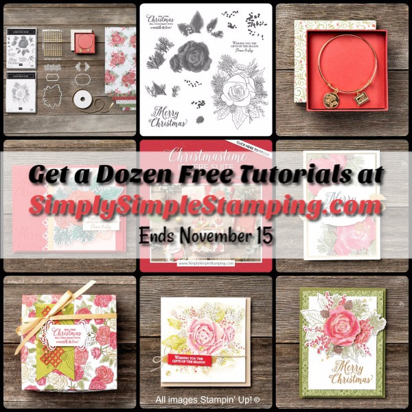 Last Day for FREE Christmastime is Here Tutorials