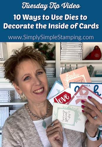 10 Easy Ways to Use Dies to Decorate the Inside of a Card