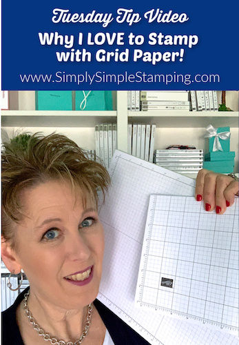 Why I Love to Stamp with Grid Paper | My Favorite Things