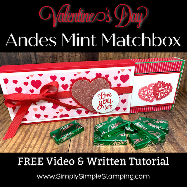 DIY Valentine's Day Andes Mint Matchbox