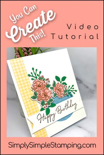 Floral Window Birthday Card Plus 2 Bonus Cards