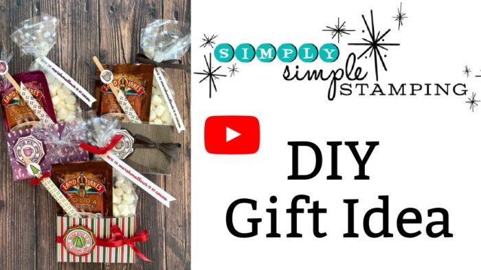 A hot chocolate gift set you can make in minutes with this easy to follow video tutorial