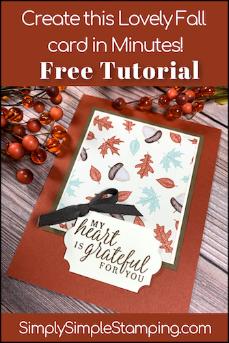 Create this Lovely Fall Card in Minutes