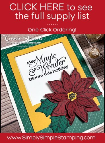 Click here for the supply list for this die cut frame Christmas card