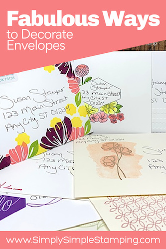 10 Ways to Decorate the Front of Envelopes
