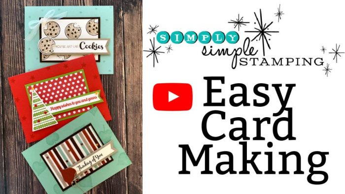 In this video tutorial I share three different cards with the same easy card layout