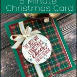 Make a Christmas Card Fast