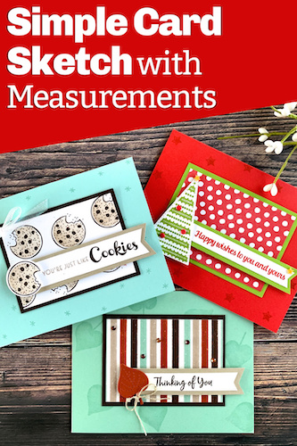 Love easy card layouts with measurements? Save this to your Pinterest boards