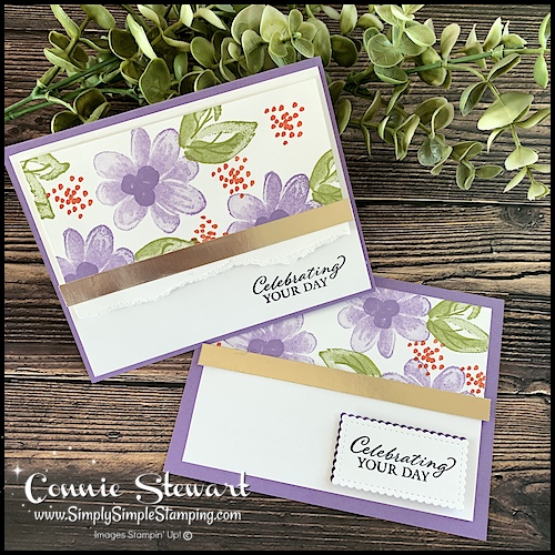 You can cover this stamping mistake with a torn paper panel look or a punched out greeting