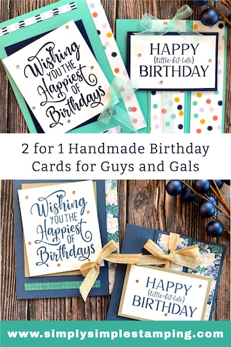 A Fun Fold Card Tutorial That Will Make 2 Happy Birthday Cards | Free Gift Inside
