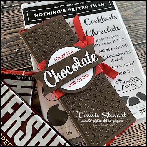 Stampin' Up! Nothing's Better than makes a novelty chocolate gift handmade.