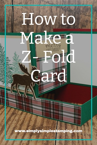 How to Make a Z-Fold Card with a Mighty Merry Moose!