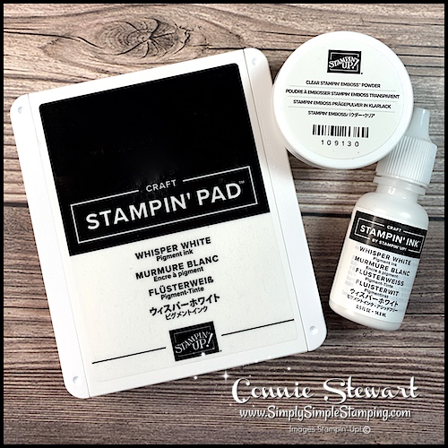 Let me show you some fun white craft ink techniques for paper crafting projects