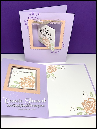 I stamped the floral image on the inside of my greeting card too.