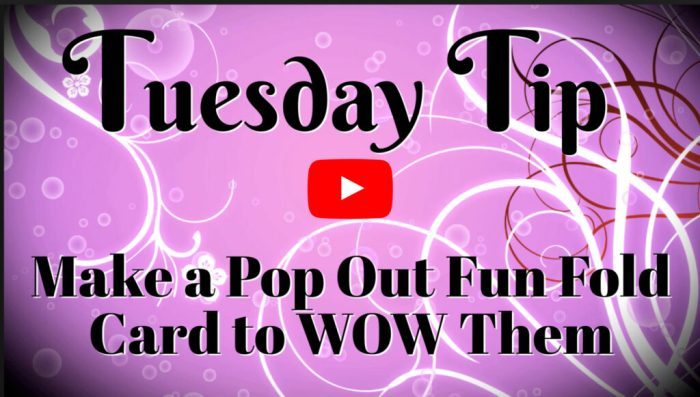 This card video will walk you through the steps on how to make a pop out fun fold card.