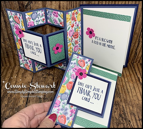 Learn how to make a pop out fun fold card.